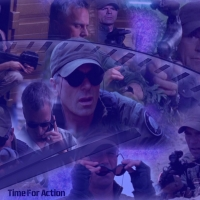 Motivation Wheel challenged: on a Stargate group called Devotion. I was given a stop watch, the words Time for action to work with. The character had to be Jack on his own or with Teal