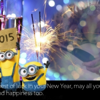 Happy New Year 2015 with Minions